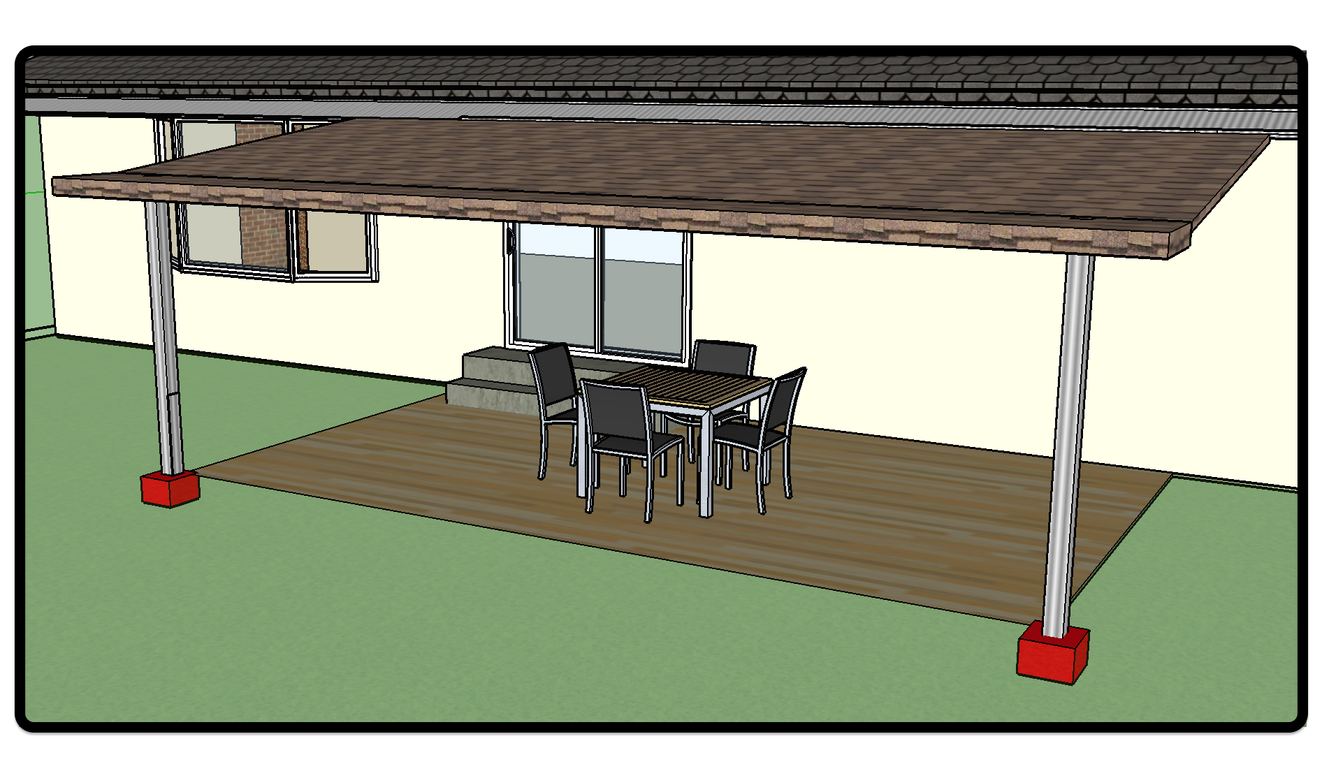 canopy and footing illustration