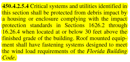 FBC section 450.4.2.5.4 Impact in essential facilities