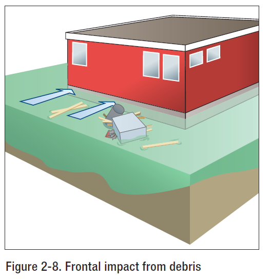 FEMA P-55 Debris Impact Illustration explained by Engineering Express