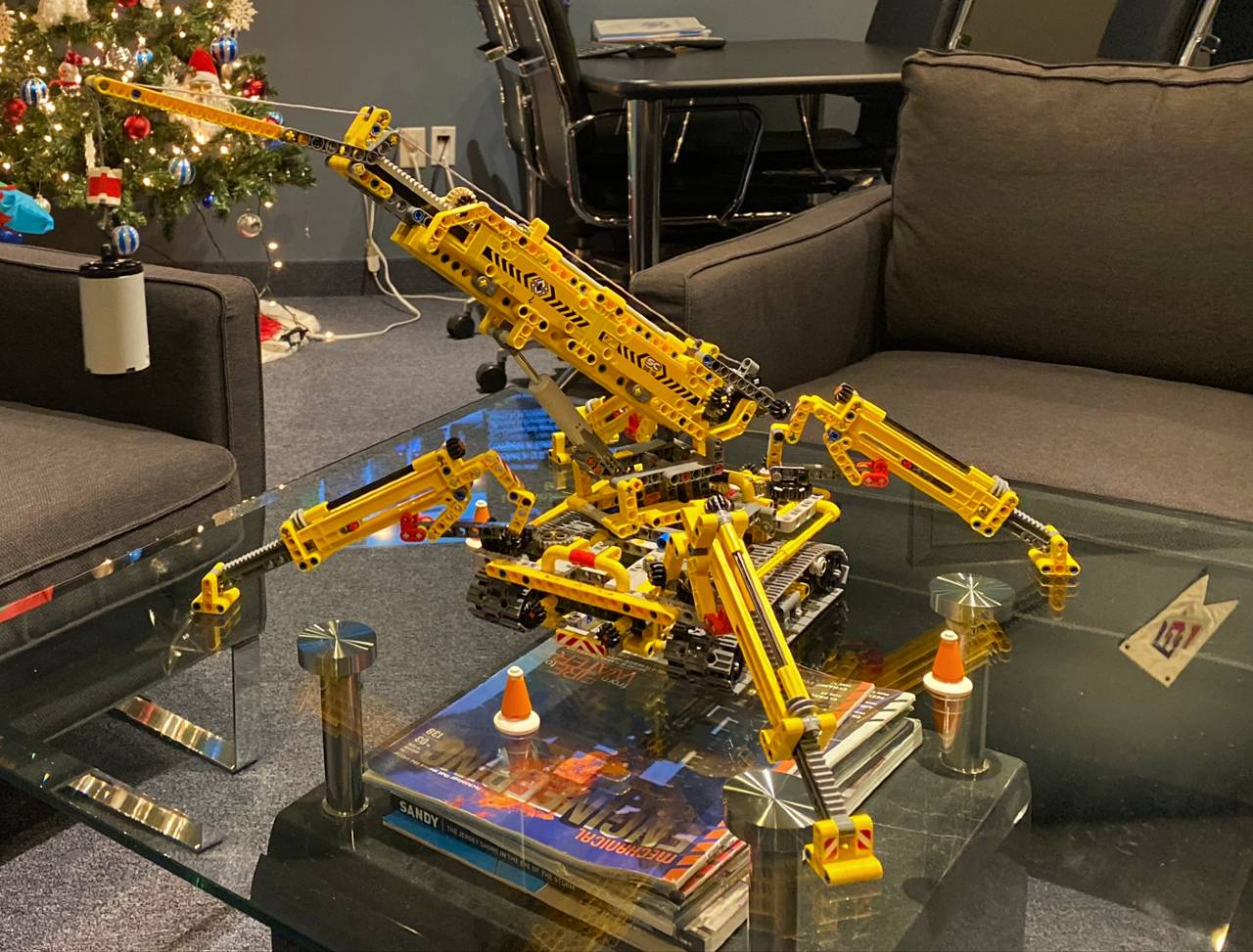 Lego Crane Set Assembled In Office